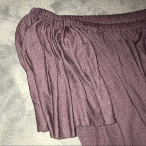Purple truly madly deeply off the shoulder top